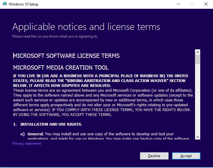 3.1 Chấp nhận thỏa thuận và giấy phép người dùng