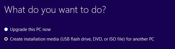 3.2 Chọn tạo đĩa cài đặt (như USB, đĩa DVD hoặc file ISO)