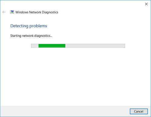 Trình Windows Network Diagnostics để chẩn đoán các vấn đề về hệ thống mạng.